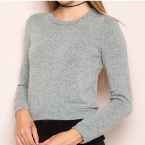 Brandy Melville Cropped Gray Sweater